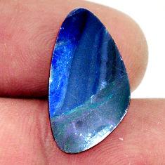 Natural 5.40cts doublet opal australian blue 17x12mm fancy loose gemstone s16748