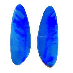Natural 6.20cts doublet opal australian blue 18.5x6 mm loose gemstone s20169
