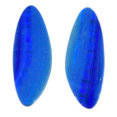 Natural 7.40cts doublet opal australian blue 20.5x7 mm loose gemstone s20161