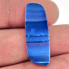 Natural 8.45cts doublet opal australian blue 30x10mm fancy loose gemstone s16721