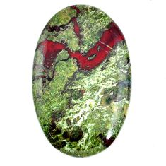 Natural 60.10cts dragon stone green cabochon 42x26 mm oval loose gemstone s21179