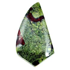 Natural 57.40cts dragon stone green cabochon 44x23 mm loose gemstone s21164