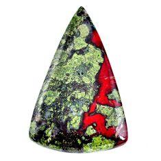 Natural 62.40cts dragon stone green cabochon 49x30 mm pear loose gemstone s21161