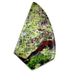 Natural 72.40cts dragon stone green cabochon 56x31 mm loose gemstone s21165