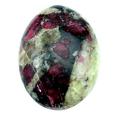 Natural 17.40cts eudialyte pink cabochon 21x15 mm oval loose gemstone s22903