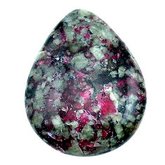 Natural 20.35cts eudialyte pink cabochon 25x19 mm pear loose gemstone s22917