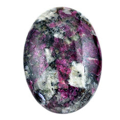 Natural 33.45cts eudialyte pink cabochon 32x22 mm oval loose gemstone s23611
