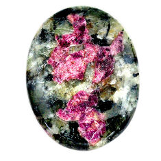 Natural 35.15cts eudialyte pink cabochon 33x24 mm oval loose gemstone s23608