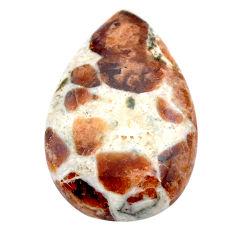Natural 20.10cts garnet in limestone spessartine 25x17 mm loose gemstone s23468