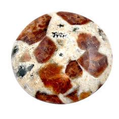 Natural 33.45cts garnet in limestone spessartine 27x27 mm loose gemstone s23443