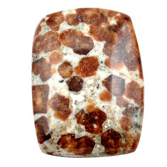 Natural 33.40cts garnet in limestone spessartine 28x19 mm loose gemstone s23454