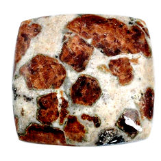 Natural garnet in limestone spessartine 31x30 mm cushion loose gemstone s20886