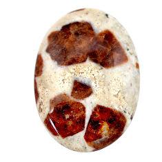 Natural 40.20cts garnet in limestone spessartine 33.5x23mm loose gemstone s23447