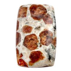 Natural 49.35cts garnet in limestone spessartine 35x21 mm loose gemstone s23453