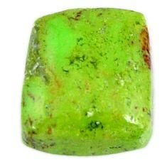 Natural 8.80cts gaspeite green cabochon 12x11 mm cushion loose gemstone s19653