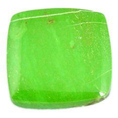 Natural 32.15cts gaspeite green cabochon 21x20 mm cushion loose gemstone s19658