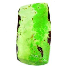 Natural 18.45cts gaspeite green cabochon 22x11.5 mm loose gemstone s19651