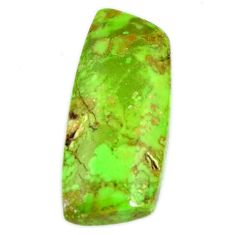Natural 16.40cts gaspeite green cabochon 23.5x11 mm loose gemstone s19652