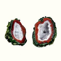 Natural 10.15cts geode druzy brown 15x11 mm fancy pair loose gemstone s16493