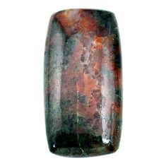 Natural 43.80cts grass garnet cabochon 37x18 mm baguette loose gemstone s21039