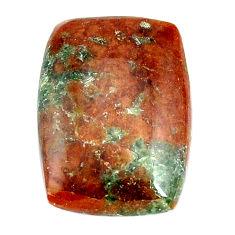 Natural 26.30cts grass garnet green cabochon 24x17 mm loose gemstone s22392