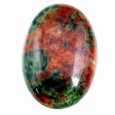 Natural 25.45cts grass garnet green cabochon 26x17mm oval loose gemstone s21023