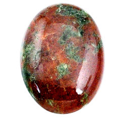 Natural 25.35cts grass garnet green cabochon 26x18 mm oval loose gemstone s21027