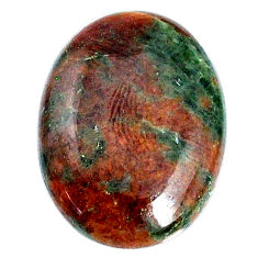 Natural 25.40cts grass garnet green cabochon 26x19 mm oval loose gemstone s21021