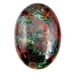 Natural 23.95cts grass garnet green cabochon 27x18 mm oval loose gemstone s21030