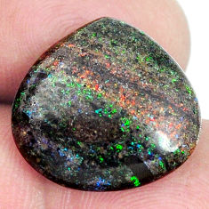 Natural 10.30cts honduran matrix opal black 17x16.5 mm loose gemstone s21443