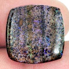 Natural 10.10cts honduran matrix opal black 18x17.5 mm loose gemstone s21457