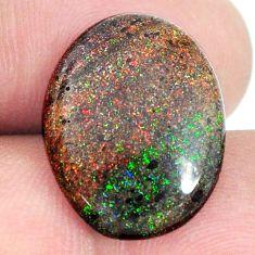 Natural 9.35cts honduran matrix opal black 19x15 mm oval loose gemstone s21458
