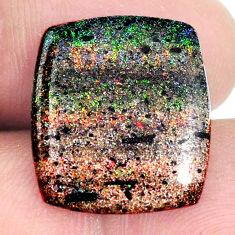 Natural 10.10cts honduran matrix opal black 19x16.5 mm loose gemstone s21435