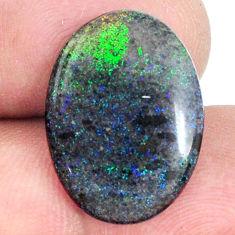 Natural 8.15cts honduran matrix opal black 20x14 mm oval loose gemstone s21452
