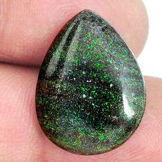 Natural 10.15cts honduran matrix opal black 20x15 mm pear loose gemstone s21444