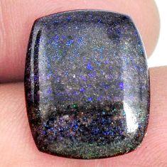 Natural 12.40cts honduran matrix opal black 20x16 mm loose gemstone s21456