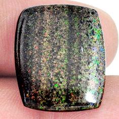 Natural 11.30cts honduran matrix opal black 21x17 mm loose gemstone s21426