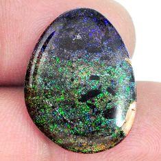 Natural 10.05cts honduran matrix opal black 22x16.5 mm loose gemstone s21442