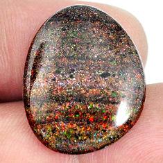 Natural 14.35cts honduran matrix opal black 23x18 mm fancy loose gemstone s21454