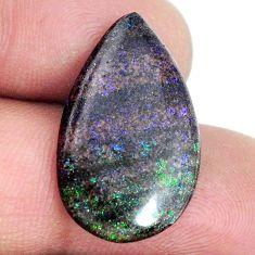 Natural 10.10cts honduran matrix opal black 24x14 mm pear loose gemstone s21441