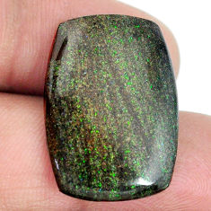Natural 15.10cts honduran matrix opal black 25x17.5 mm loose gemstone s21421