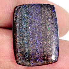 Natural 15.10cts honduran matrix opal black 25x18 mm loose gemstone s21424