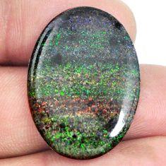 Natural 15.10cts honduran matrix opal black 28x20 mm oval loose gemstone s21431