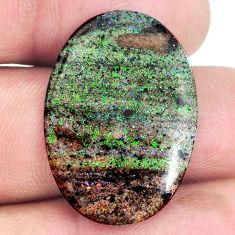 Natural 13.10cts honduran matrix opal black 28x20 mm oval loose gemstone s21434