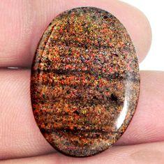 Natural 16.05cts honduran matrix opal black 29x20 mm oval loose gemstone s21429