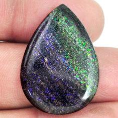 Natural 17.40cts honduran matrix opal black 29x20 mm pear loose gemstone s21433