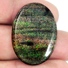 Natural 18.10cts honduran matrix opal black 30x21.5 mm loose gemstone s21430