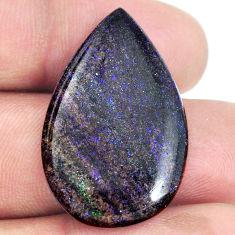 Natural 16.20cts honduran matrix opal black 32x20 mm pear loose gemstone s21432