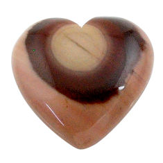 Natural 23.15cts imperial jasper brown cabochon 22x22 mm loose gemstone s24557