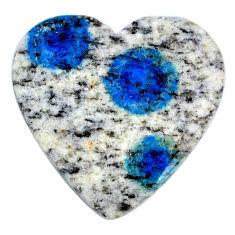Natural 24.45cts k2 blue (azurite in quartz) 17.5x17.5 mm loose gemstone s20398